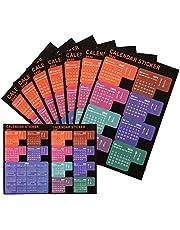 LUTER 2020 Pestañas del Calendario Marcadores Adhesivos Indices Planificador Mensual Tab Index Stickers para Bullet Journal, Agenda, Escuela (5 Sets, 120 Tabs)