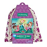 Mudpuppy Mermaids to Go Puzzle, 36 Pieces, Ages 3+, Colorful Under-The-Sea Artwork, Made with Safe and Non-Toxic Materials
