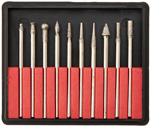 Beadsmith BUR10 Lot de 10 forets à pointe diamantée grain 150 pour gravure 2,35 mm