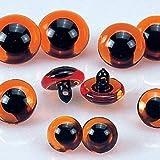 EFCO Animal 's Augen Loop, Kunststoff, 2-piece-p, plastik, braun/schwarz, 14 mm,  2-Piece