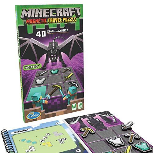 ThinkFun Minecraft Magnetic Travel Puzzle Logic Game