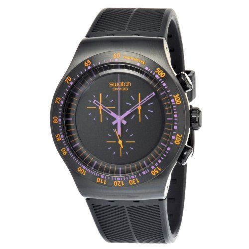 Swatch Reloj de Cuarzo Man Purple IN Dark YOB102 47.0 mm