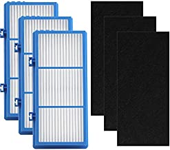 HAPF30AT Filter for Holmes Air Purifier AER1 Series Total Air Filter Replacement for HAPF30AT and HAP242-NUC Filter Replacement (3 HEPA + 3 Carbon Booster Pre Filter)