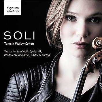 SOLI: Works for Solo Violin by Bartók, Penderecki, Benjamin, Carter and Kurtág