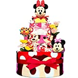 KanonBabys おむつケーキ 女の子 ミニー ディズニー 出産祝い 3段 Sサイズ 4102