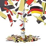 Relaxdays 10021766 Partypopper 40 cm Germany, Schwarz-Rot-Gold