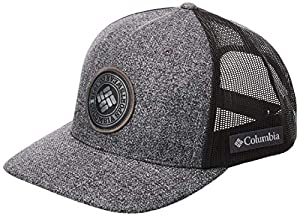 Columbia Men's Mesh Snap Back Hat, Grill Heather, Circle Patch, One Size