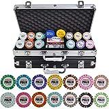 TX GIRL Fichas De Poker Set Crown Casino De Póker Virutas Set 100/200/300/400 / 500PCS / Set Texas Hold'em Baccarat Chips con Maleta De Aluminio Y Mantel (Color : 300pcs Black Box)