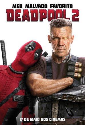Deadpool 2 – Ryan Reynolds – Brazilian Film Poster Plakat Drucken Bild - 43.2 x 60.7cm Größe Grösse Filmplakat