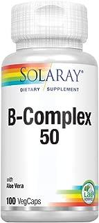 Solaray B-Complex Supplement, 50mg, 100 Count
