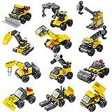 FUN LITTLE TOYS Mini Construction Building Blocks Set - 12 Pieces