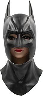 Cyndie Batman Cowl Mask Adult Full Overhead Latex Mask for Cosplay Show Costume Party Halloween Masquerade Party