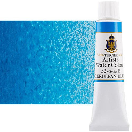 Turner Concentrated Professional Artists' Watercolor Paint 15ml Tube - Cerulean Blue