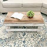 Del Hutson Designs - Rustic Barnwood Coffee Table (White/Natural)