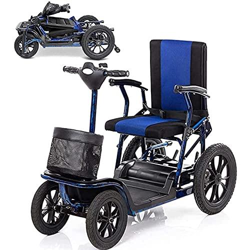 YX-ZD Scooter Movilidad 4 Ruedas para Adultos Mayores Discapacitados, Scooter Plegable para Silla Ruedas Eléctrica Crucero 25 Km, Marco Aleación Aluminio para Aviación,26Ah Lithium Battery