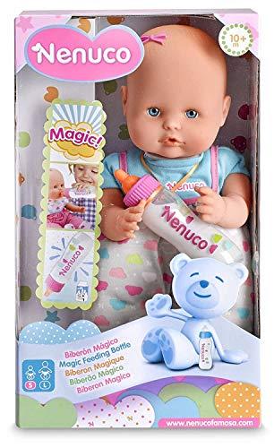Nenuco - Biberón Mágico Rosa, Muñeco Bebé, para niños y niñas a Partir de 10 Meses, Rosa (Famosa 700012691)