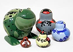 These nesting dolls would be every Gift Ideas for Frog Lovers dream.