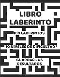Libro Laberinto: muy divertido Para Adultos También Excelente Para Niños 10 niveles de dificultad. Encuentra la salida de estos!