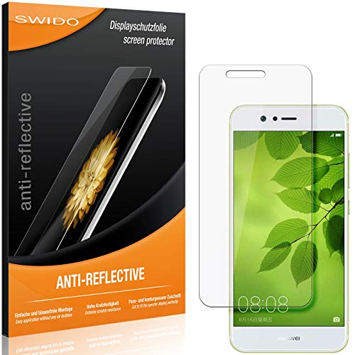 Swido - Pellicola protettiva antiriflesso per Huawei Nova 2 (2 pezzi), pellicola protettiva per display in vetro temperato