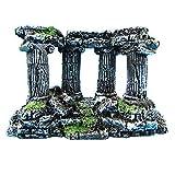 N-K Adorno de resina para acuario, decoración de acuario, columna romana, castillo de ruinas, cuatro columnas, duradero y práctico, bonito diseño.