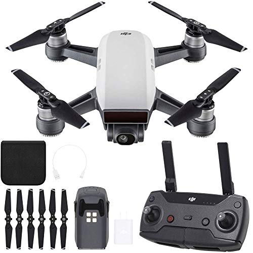 DJI CP.PT.00000104.01 SPARK Portable Mini Quadcopter Drone w/ Controller - (Renewed)