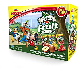 Brothers-ALL-Natural Fruit Crisps Mickey Mouse Clubhouse Variety 0.35 Ounce  Pack of 12