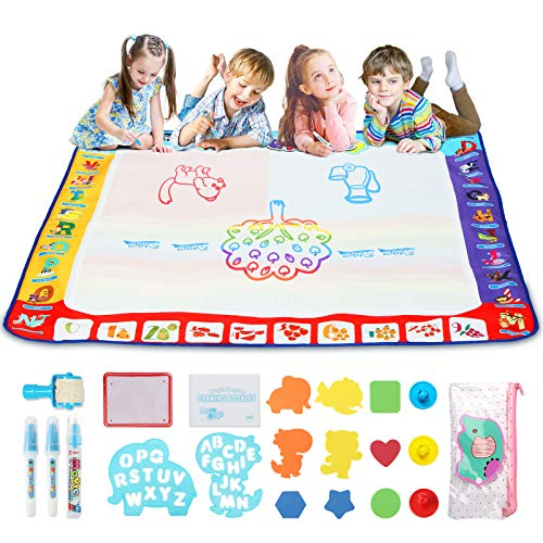TOYCRAZ Aqua Magic Doodle Drawing Mat,...