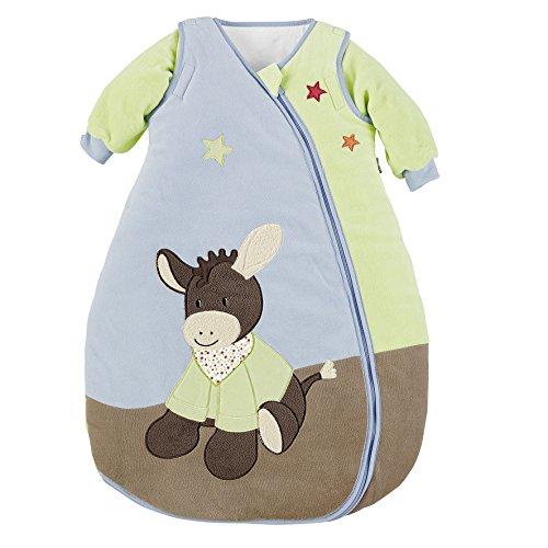 Sterntaler Schlafsack für Kleinkinder, Abnehmbare Ärmel, Wärmeregulierung, Reißverschluss, Größe: 110, Emmi, Bunt