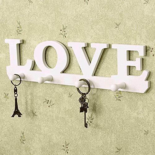 Creative Vintage White Love Robe Hookes Holder Hookes Sundries Hanger Wall Decor