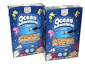 Pasta Ocean Adventures Pasta with Sea Creature & Boat Shapes Kosher and GMO Free 16 Ounces  2 Pack