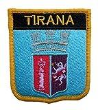 1000 Flaggen Tirana Albanien Schild bestickt Patch Badge