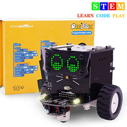 Yahboom Robot Kit for Kids to Build STEM Education Electronics DIY Car Based on Arduino & Scratch 3.0 Learnning Coding Car