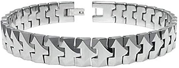 Titanium Kay Tungsten Carbide 10MM Men's Link Bracelet (Length 7