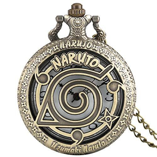 WLALLSS Gravierte Taschenuhr für Männer Frauen Steampunk Taschenuhr Halskette Kette Quarzuhr Jungen Mädchen