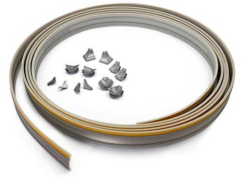 Wandanschlussprofil FOLD AND ROLL edelstahlfarbig 5 m Rolle & Formteile/Wandabschluss/Küchenabschlussleiste