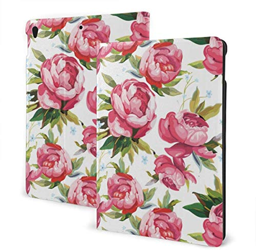 Alice Case for Ipad Air 3rd Gen 10.5' 2019 / Ipad Pro 10.5' 2017 Multi-Angle Folio Stand Auto Sleep/Wake for Ipad 10.5 Inch Tablet-Lovely Peony Flowers-One Size