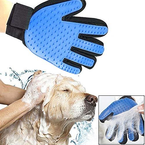M581 Compact Dematting Comb Tool für Haustiere Rechte Hand Fünf-Finger-Deshedding-Bürstenhandschuh Pet Gentle Efficient Massage Grooming (Blau) , Halten Sie Ihr Haus mit dem True Touch sauber, indem S