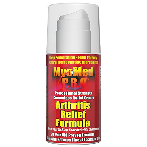 Professional Strength Arthritis Relief Cream by Myomed PRO. 3.5 oz. Best Product Remedy for Arthritis, Sciatica & Plantar Fasciitis Pain. Superior Treatment Works Fast, relieves Your Symptoms.