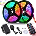Led Strip Lights, Tenmiro 32.8ft RGB Sync to Music Color Changing Strips,40key IR Remote Controller, DC12V5A 300 Unit SMD 5050 LED,Non-Waterproof,Decoration for Living Room Bedroom Bar,Party Lighting