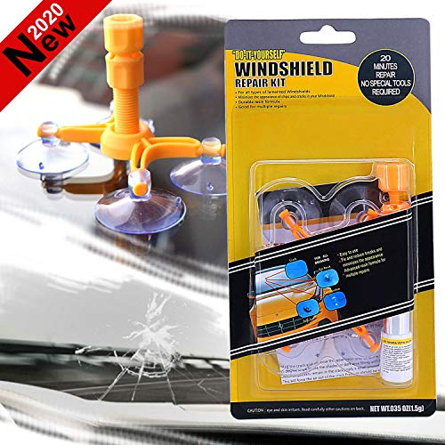 Gebuter Glass Corrector Set Windscreen Windshield Repair Kit Tool Crack Repairing for Car Vehicle