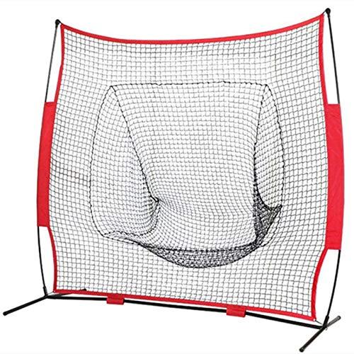 CuteLife Red de Práctica de Béisbol Red Duradero de la práctica de béisbol de Softball portátil de 7 x 7 pies con la Bolsa de Arco Marco de Entrenamiento de softbol Outdoor para el Camping del Patio