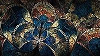 BDDZYMCZYX クロスステッチキット 14CT プレプリント刺繡工芸品スターターキッ初心者トコットン手刺繍室内装飾 40×50cm天井ガラス