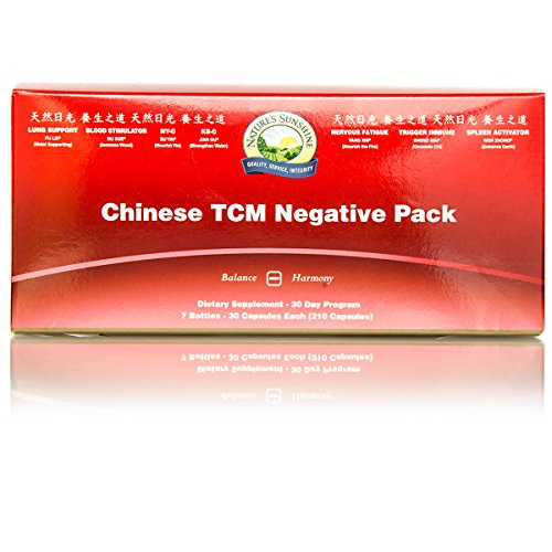 Nature's Sunshine TCM Vitamin Pack, Yin (Negative), 30 Day | Vitamin Packs for Men and Women Containing 7 Chinese Herbal Formulas and Vitamins