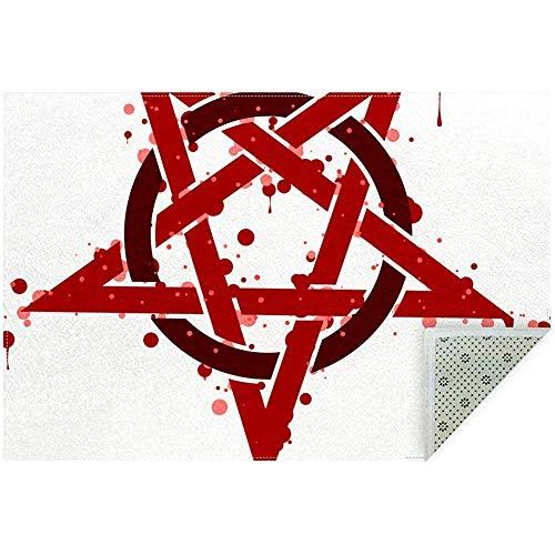 Liz Carter 36X24inch Pentagram Rouge Spot Symbol Area Teppich Teppich rutschfeste Fußmatten Fußmatten