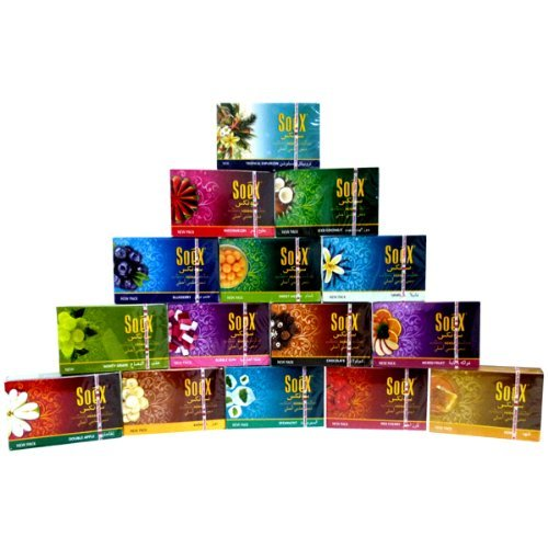 20 Packs X 50g Mixed Lot Herbal Shisha Flavored Molasses for Hookah Huka Hooka by SOEX