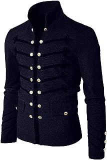 Button Coat Men Coat Jacket Gothic Embroider Uniform Costume Praty Outwear