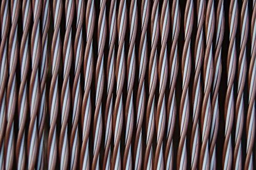 La Tenda Türvorhang Padova 2 Raumteiler Fliegenschutz Balkon Insektenabwehr Farbe: braun-Weiss, Maße Vorhang:90 x 210 cm