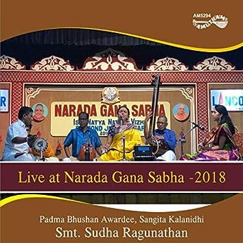 Live at Narada Gana Sabha - 2018
