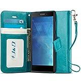 J&D Case Compatible for Xperia L2 Case, Wallet Stand Slim