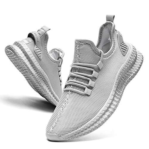 EGMPDA Schuhe Herren Laufschuhe Herren Sneaker Turnschuhe Sportschuhe Joggingschuhe Freizeitschuhe Outdoor Fitnessschuhe Shoes for Men Grau 43 EU